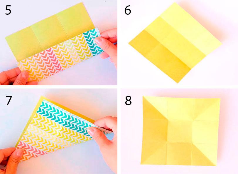 Закрытый конверт оригами
