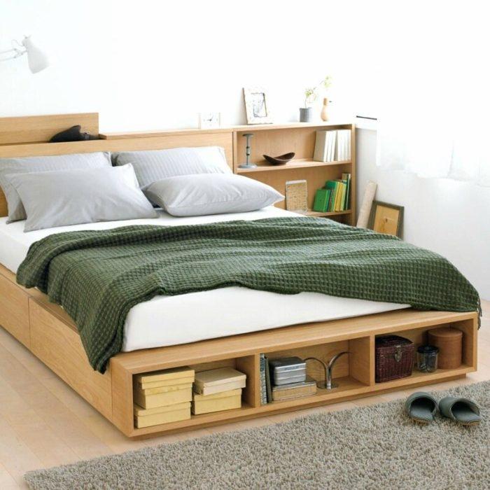 места хранения вещей в кровати