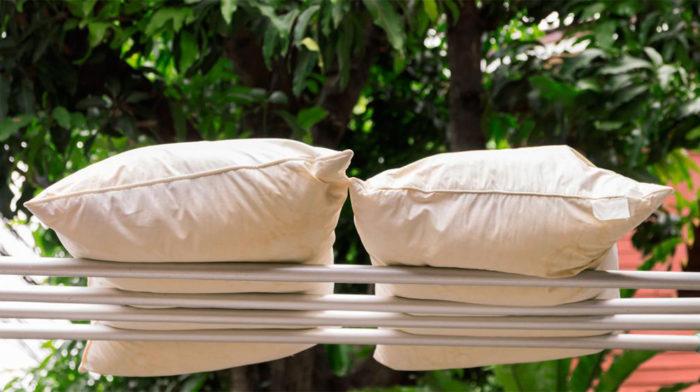 сушка перьевых подушек