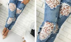 декорация дырки на джинсах