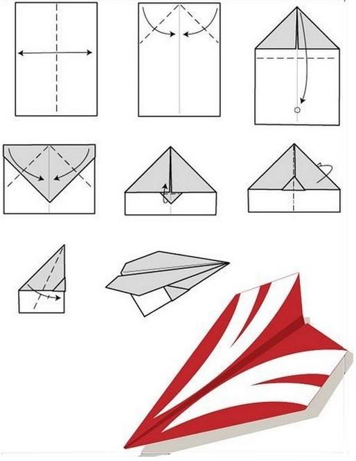 самолет стриж из бумаги