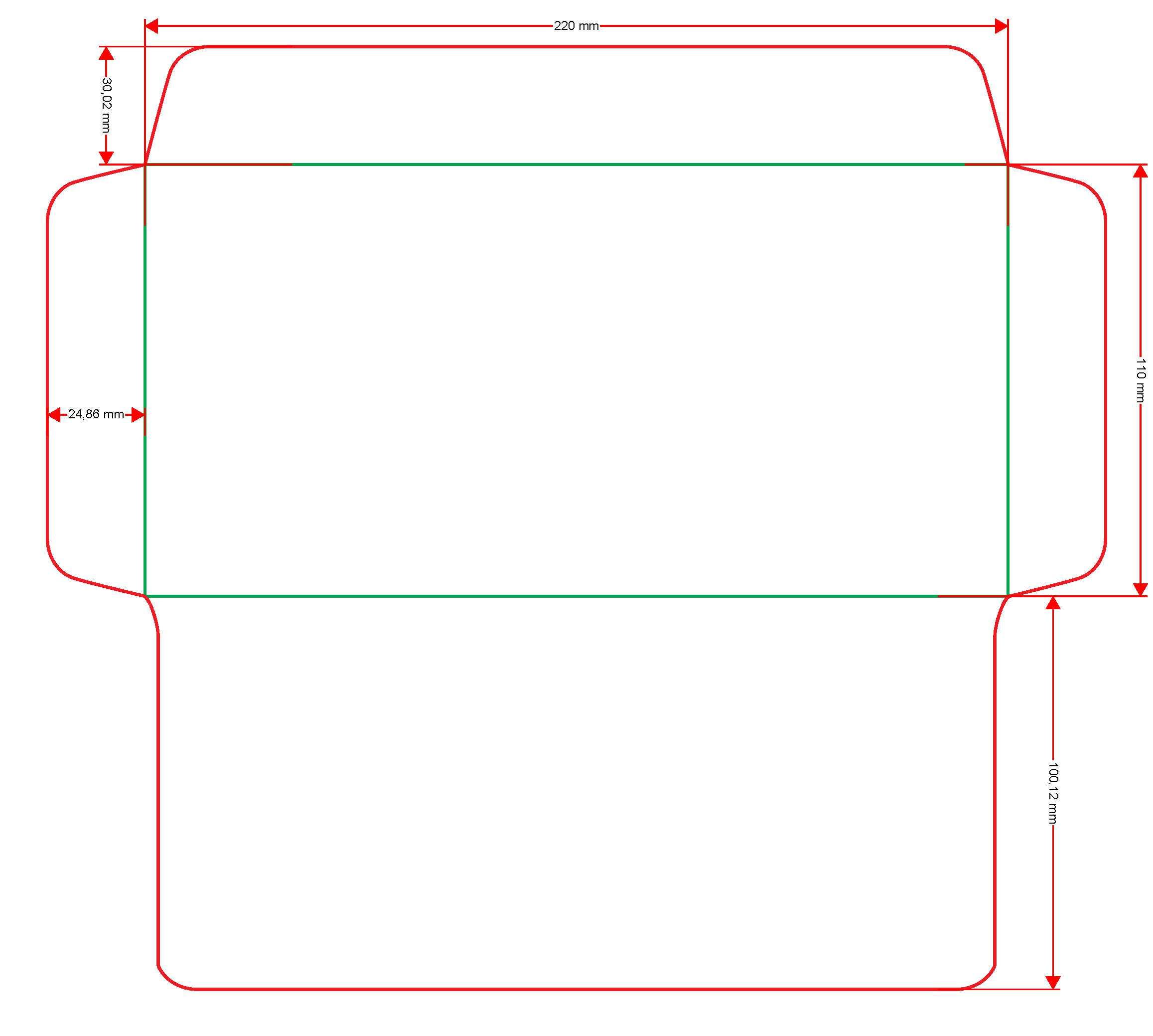 схема прямоугольного конверта