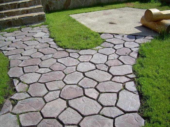 Тротуарная плитка своими руками на даче