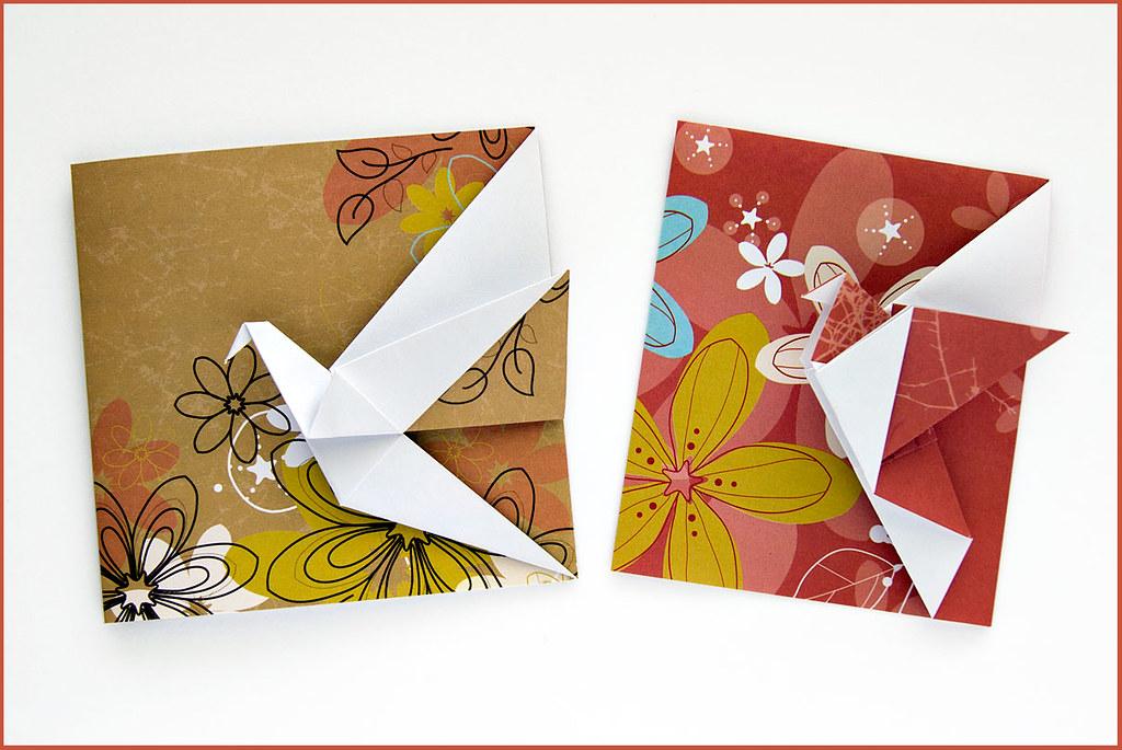 С оригами открытки, открытка деду морозу