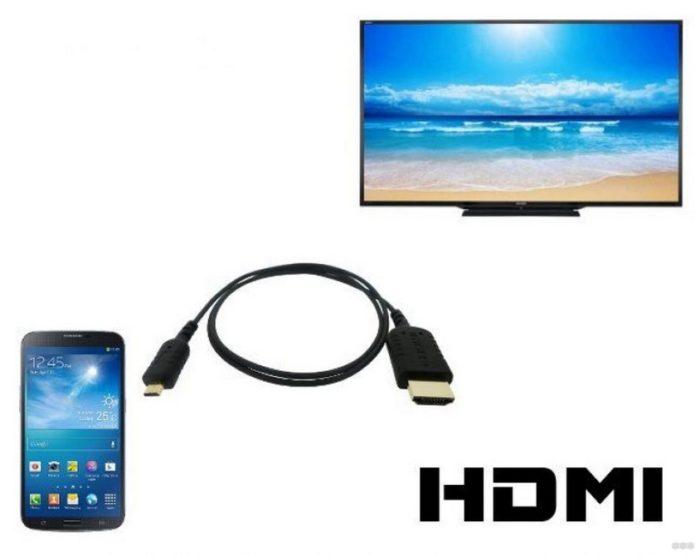 подключаем телефон к телевизору через HDMI