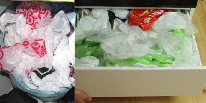пластиковые пакеты на кухне
