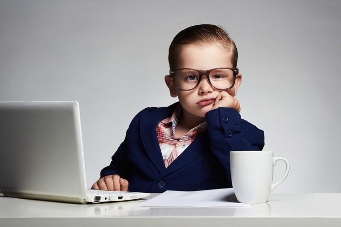 ребенок бизнесмен