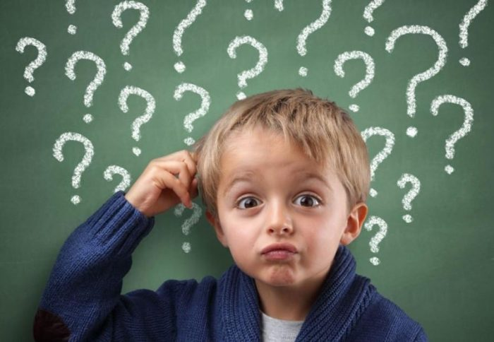 дети задают много вопросов
