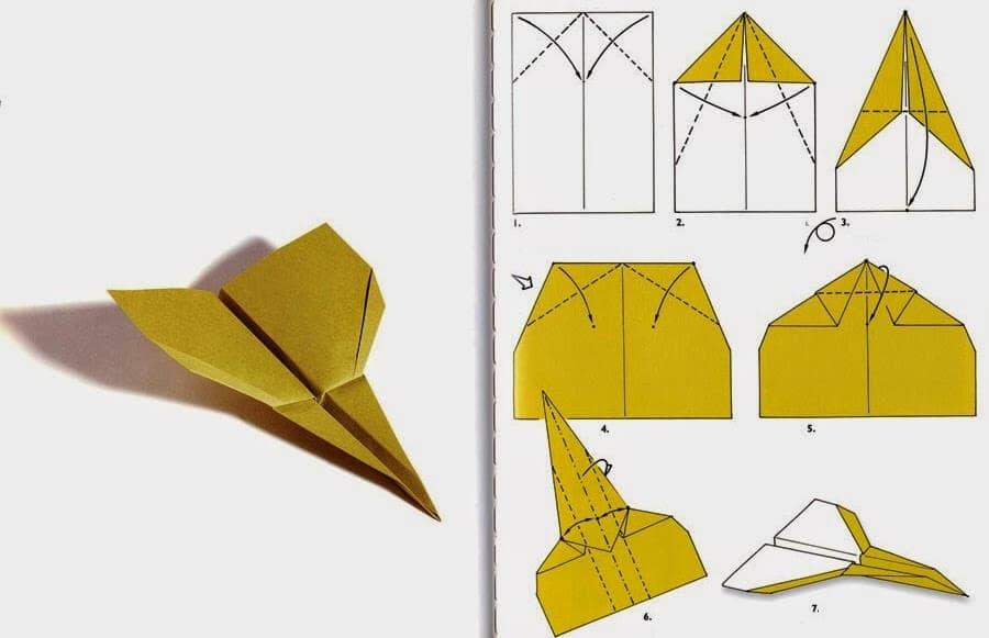 Бумажный самолет по технике оригами