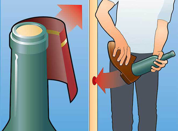 как открыть бутылку канцелярской скрепкой