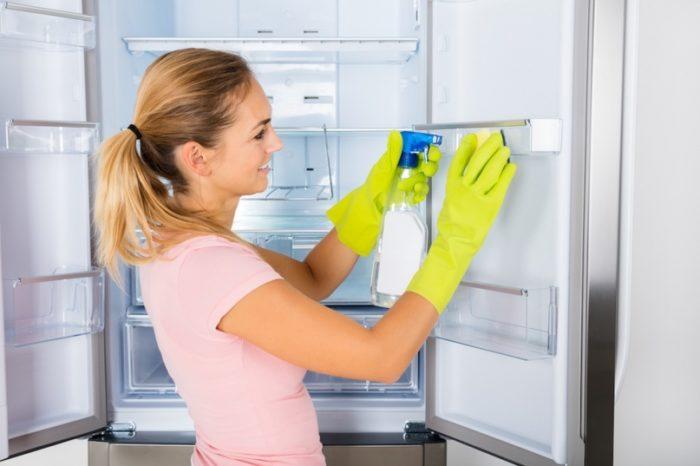 полная очистка холодильника