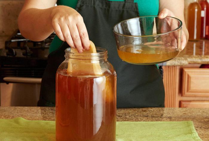 Промывка чайного гриба