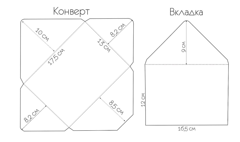 квадратный конверт