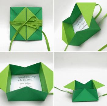 конверт в форме коробки
