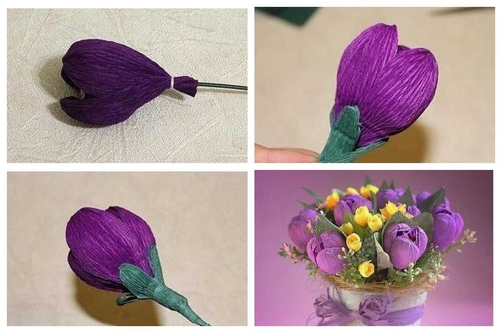 Подарочные цветы с сердцевиной из конфет