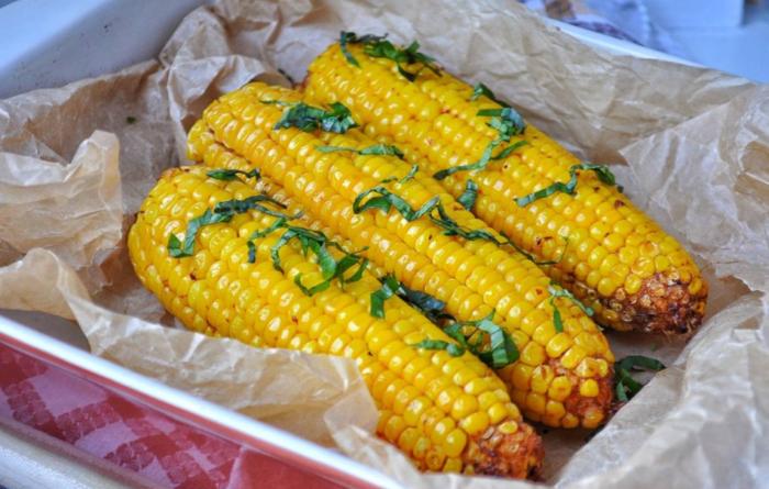 Варим кукурузу в духовке
