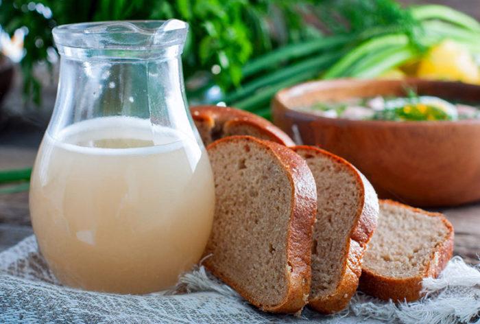 Квас из белого хлеба