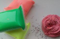 делаем слайм из пластилина