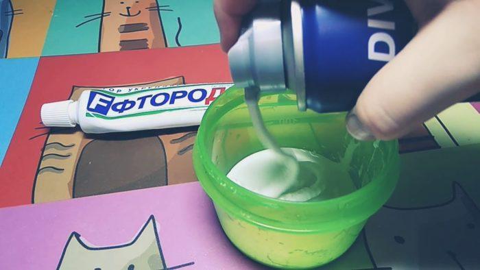 Слайм из крема для загара