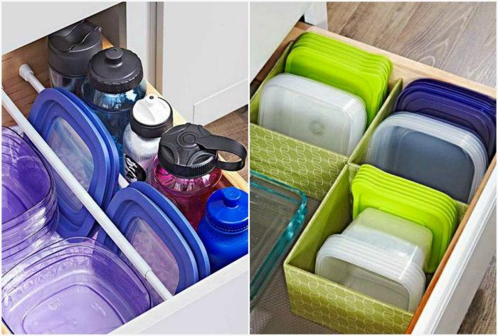 пищевые контейнеры на кухне