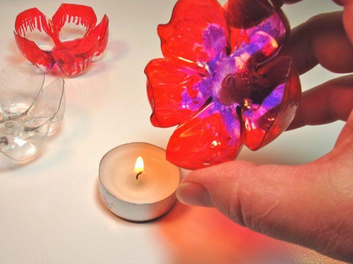цветки из пластиковых бутылок
