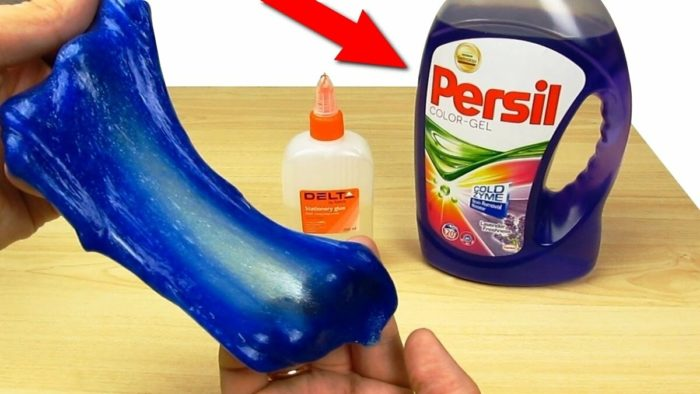 Слайм с пластилином и гелем для стирки Persil