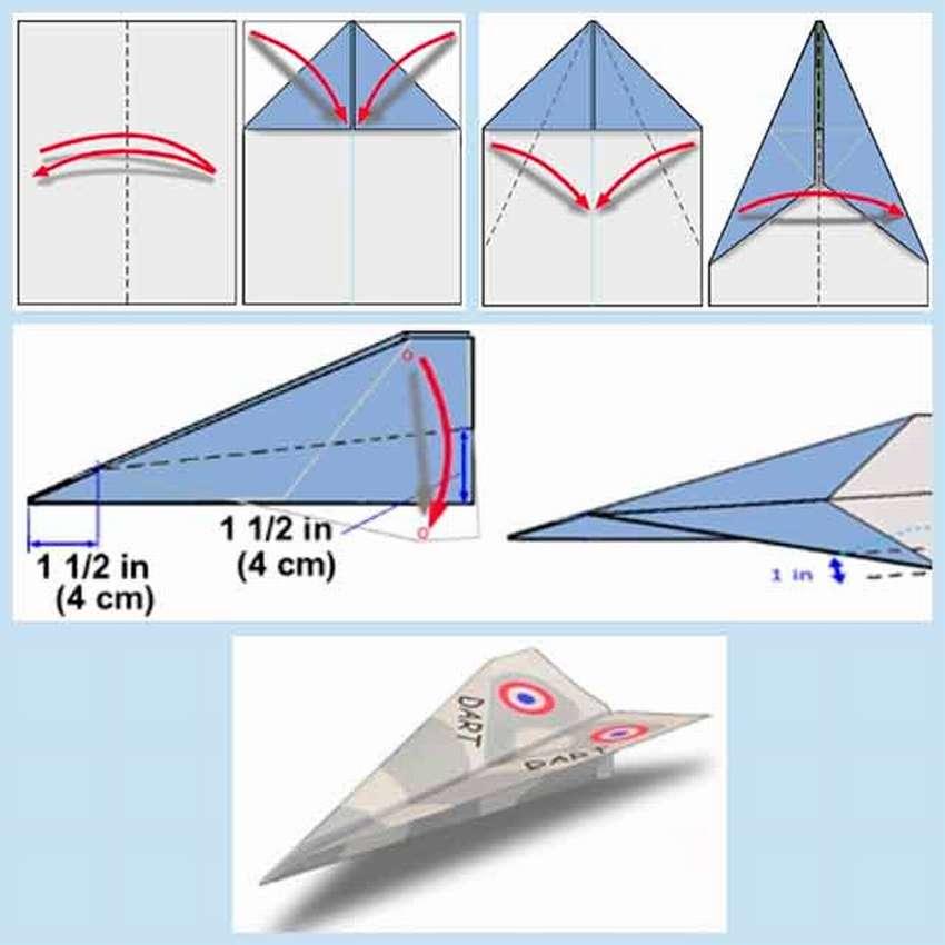 Делаем самолет из бумаги, который далеко летит