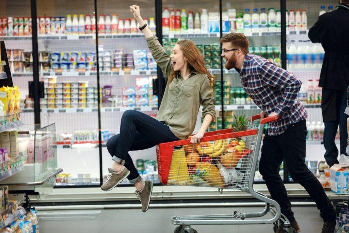 распродажа в продуктовых магазинах