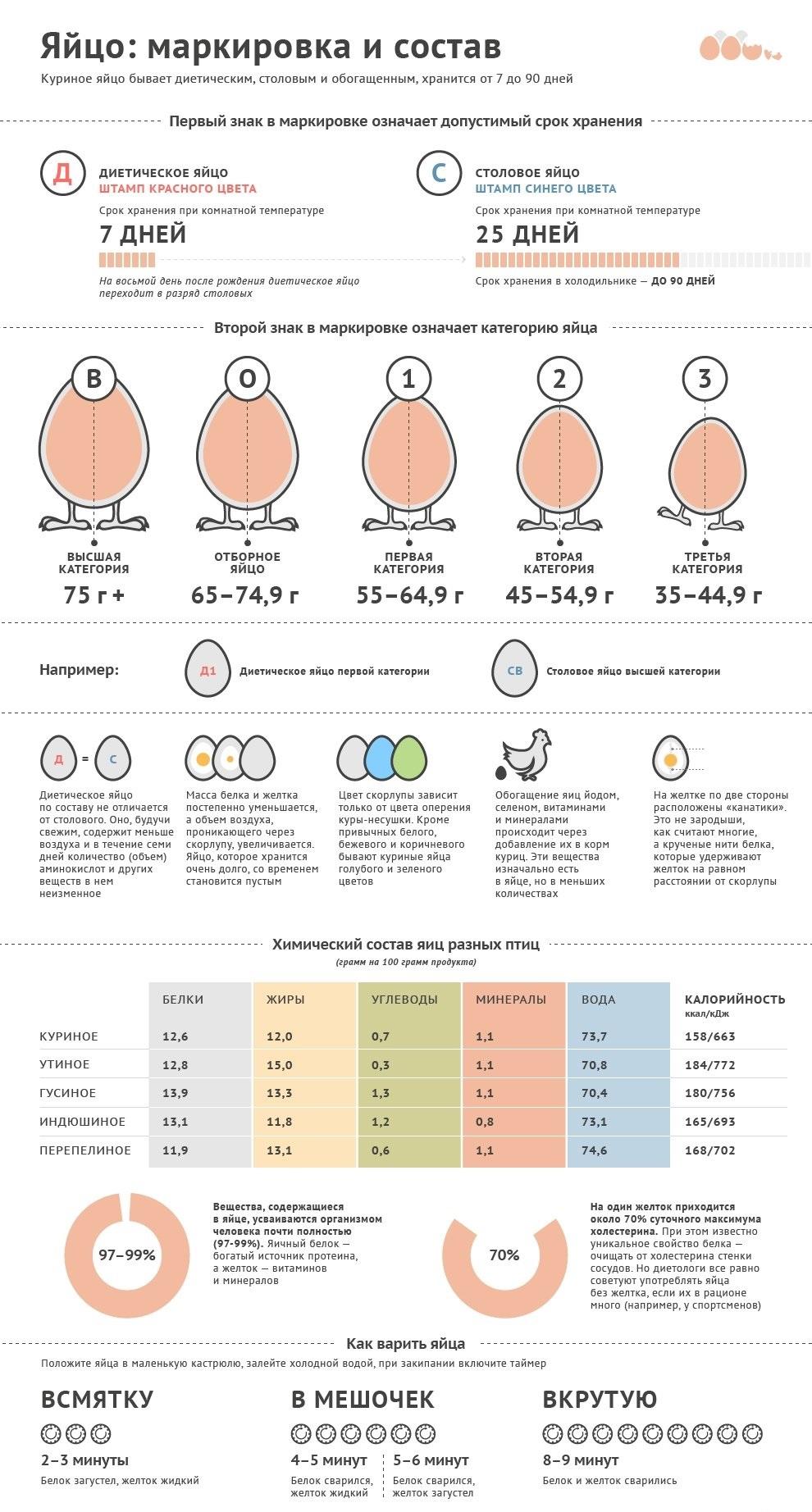 состав куриных яиц