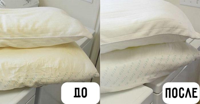 стираем перьевую подушку