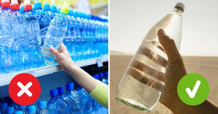 покупайте воду в стеклянных бутылках
