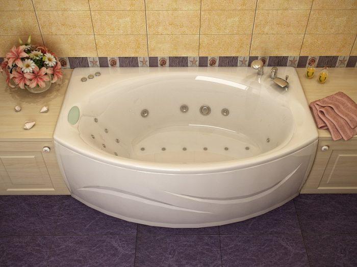 установка джакузи в ванной
