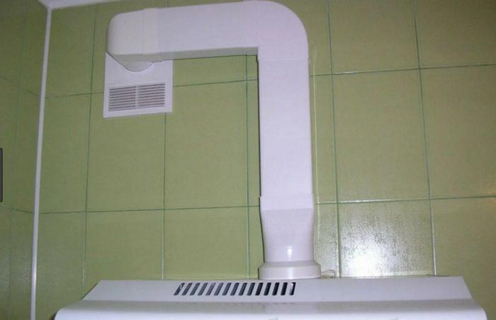 Подключение кухонной вытяжки к центральной вентиляционной шахте