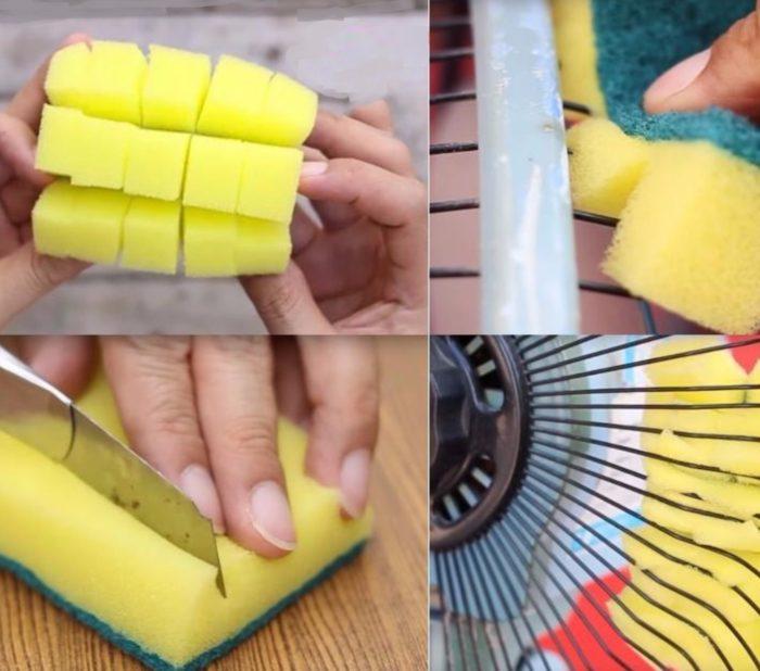 Кухонная губка для чистки решеток