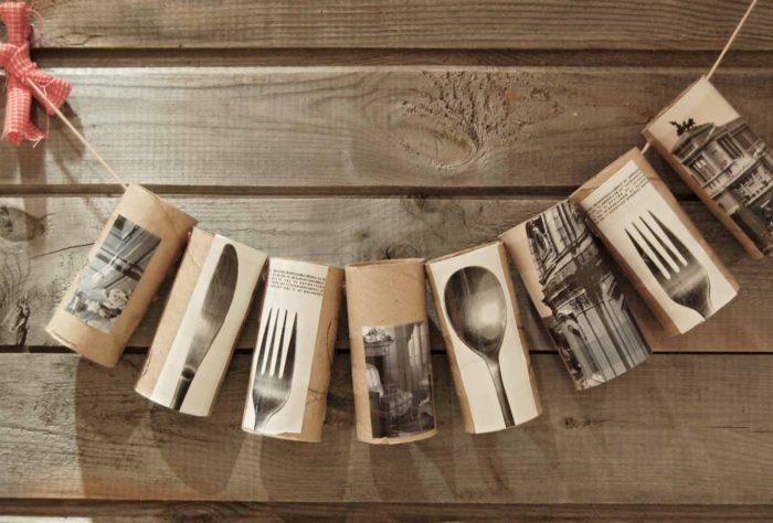 Втулки от бумаги и полотенец на кухне