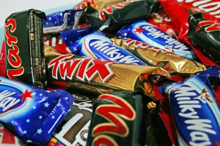 Конфеты и шоколадные батончики