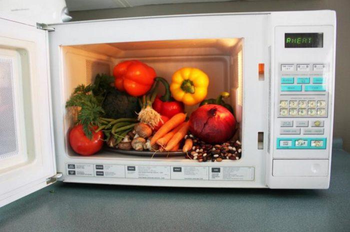 готовые овощи в микроволновке