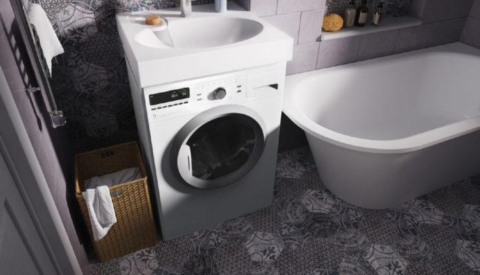 стиральная машинка в ванной