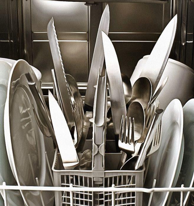 моем ножи в посудомоечной машине