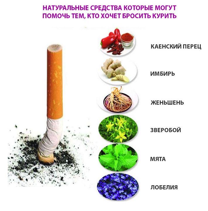 продукты которые помогут бросить курить